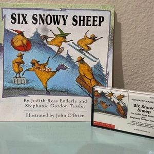 Six Snowy Sheep Book/Tape